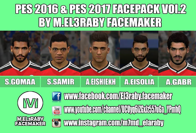 PES 2017 Facepack vol.2 by M.Elaraby Facemaker