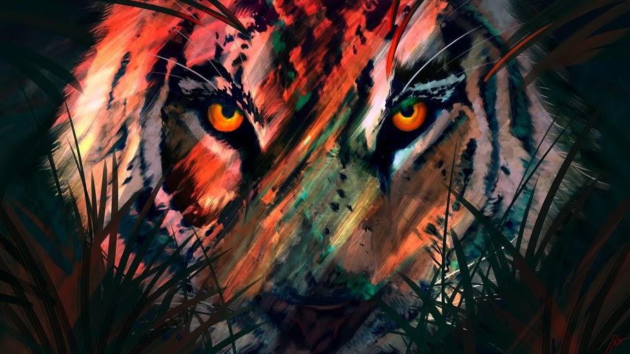 Tiger, Digital Art, Animal, 4K, #95