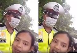 Kena Tilang Polisi, Wanita ini malah meminta maaf sambil ngevlog