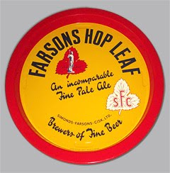 Old Farson's Hop Leaf Beer Tray