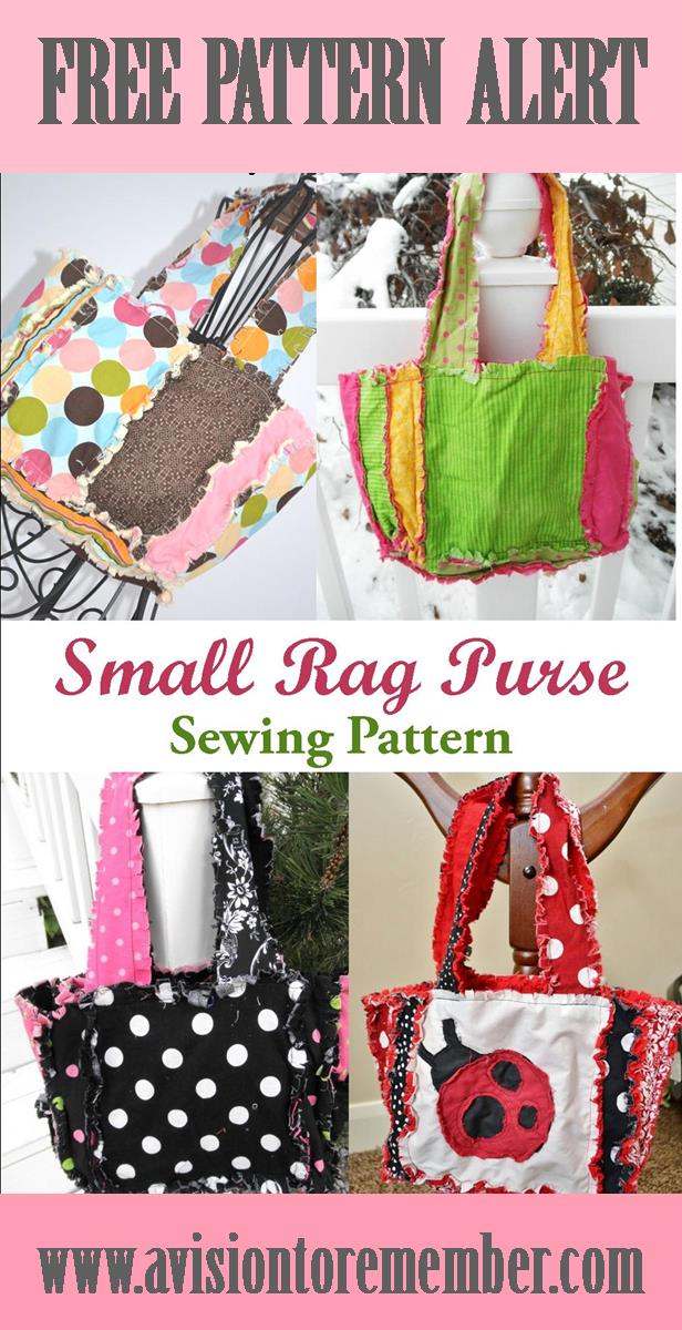 Free Pattern - Rag Quilt Scripture Tote for Baptism Gifts | A Vision ...