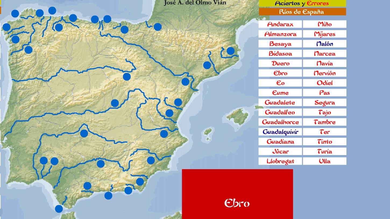 Mapa Rios De España 6 Primaria.La Clase De Daniela Online A Jugar Y Estudiar Con Los