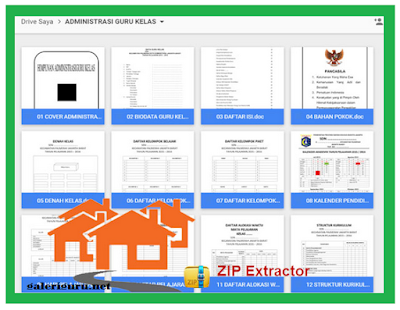 24 berkas administrasi guru dalam 1 file excel