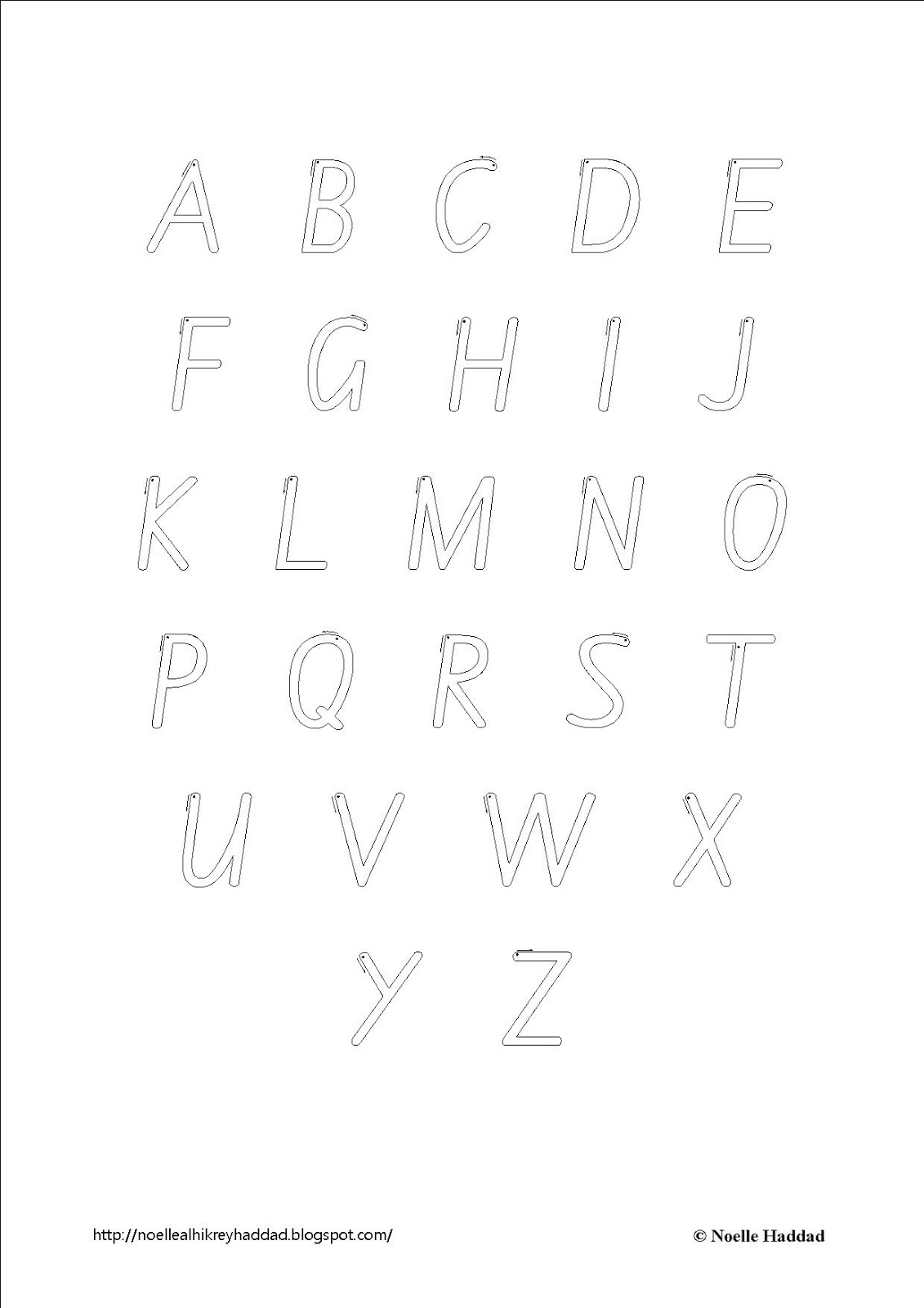 Everything Children: NSW Foundation Font Alphabet Activity