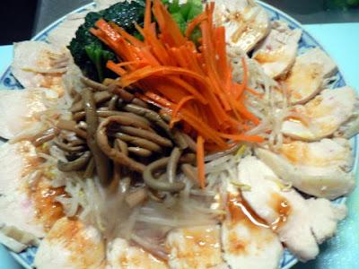 鶏ナムル皿完成