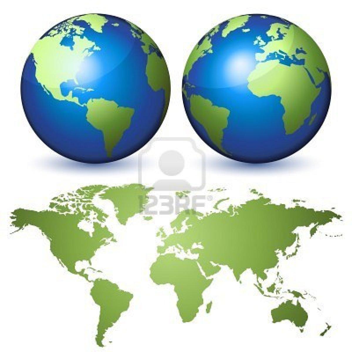 Dos Globos En Representacion De La Tierra Un Planisferio Sy Hijau