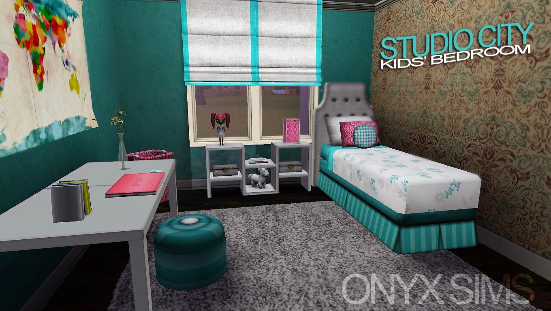 Studio city kids 39 room onyx sims for Room decor sims 4