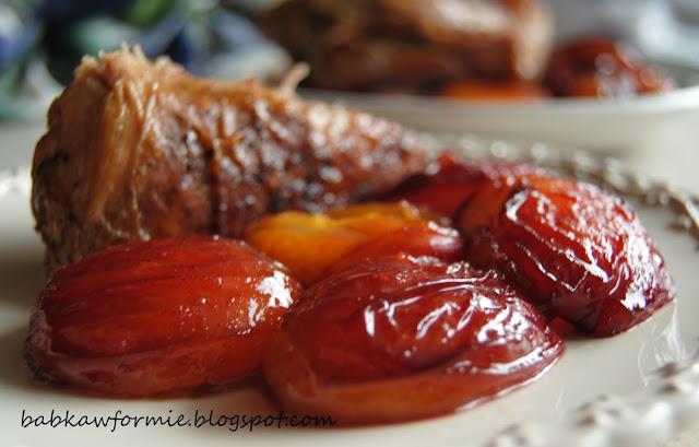 śliwki karmelizowane - znakomity dodatek do mięs