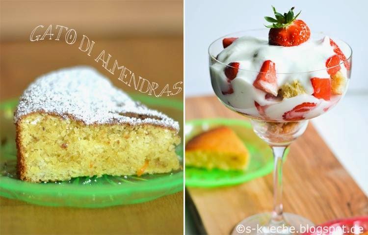 Erdbeeren-Mandelkuchen-Creme