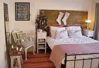 decoración dormitorio navideño
