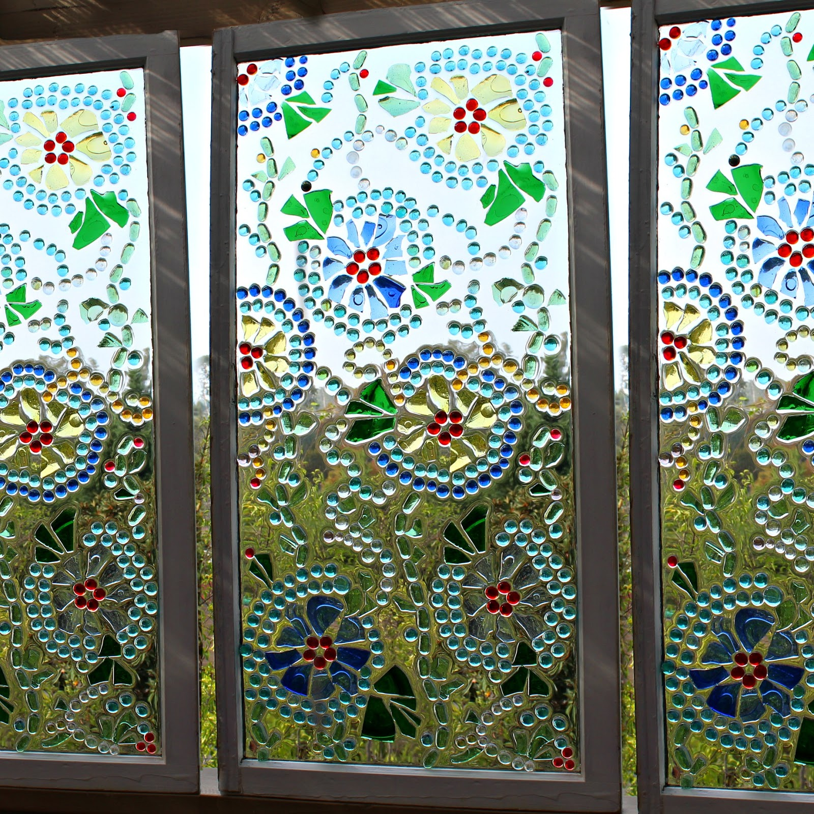 Mark montano stained glass vintage window for 2 pane window