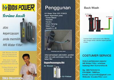 Filter air POMPA PVC murah handal untuk sumur / pam