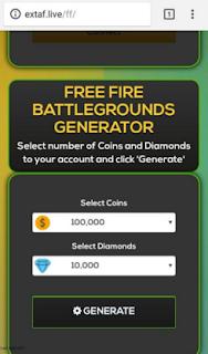 Extaf Life FF Generator Online Diamond & Coins Free Fire terbaru 2019