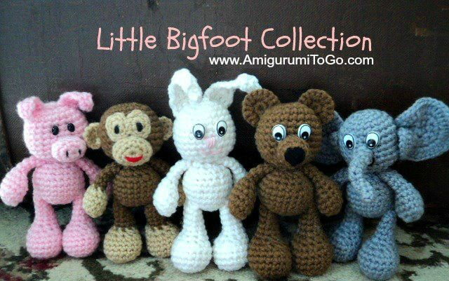 Little Amigurumi Patterns Free : Little bigfoot bunny with video tutorial amigurumi to go