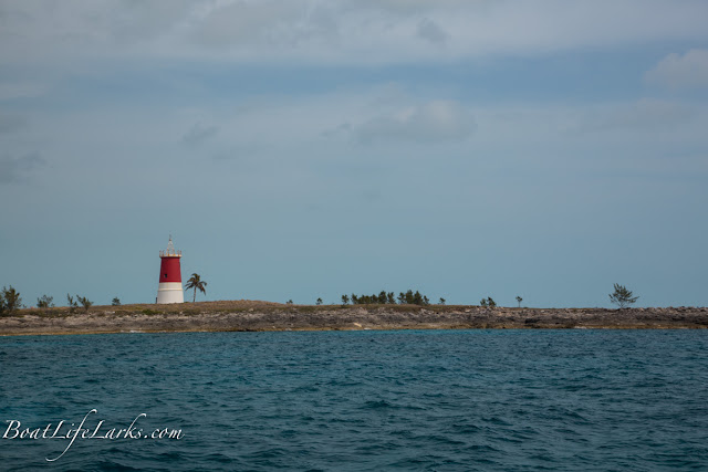 Gun Cay Lighthouse, Bimini Islands, Bahamas