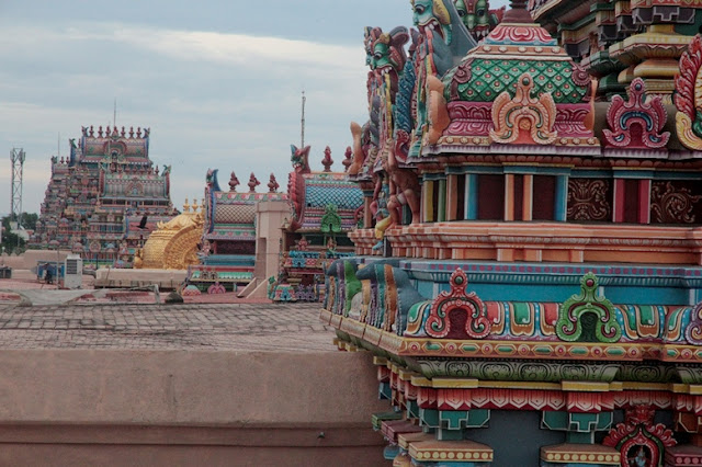 vue terrasse srirangam temple