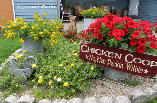 Chicken Themed Garden