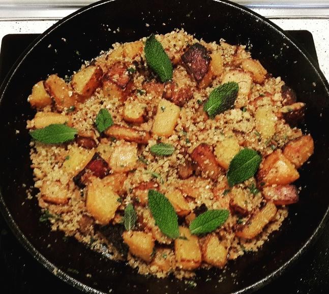La buena vida ecotienda calabaza frita con falso cous - Cocinar calabaza frita ...