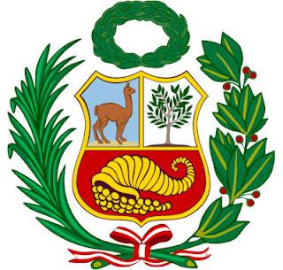 Dibujo del Escudo de Armas del Perú a colores