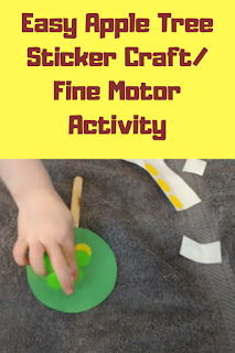 Easy Apple Tree Sticker Craft/Fine Motor