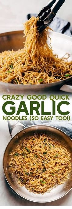 Crazy Good Quick Garlic Noodles