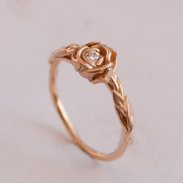 Antique Rose Gold Wedding Rings