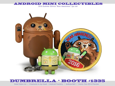 "San Diego Comic-Con 2016 Exclusive ""Bear Awareness"" Android Mini Figure Set by Andrew Bell"
