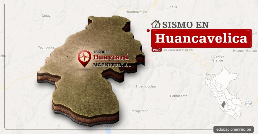 Temblor en Huancavelica de 3.6 Grados (Hoy Viernes 23 Junio 2017) Sismo EPICENTRO Huaytará - IGP - www.igp.gob.pe