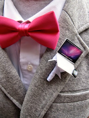 wedding ideas - boutonniere ideas - mini computer - wedding services in Philadelphia PA. - inspiration by K'Mich - wedding ideas blog