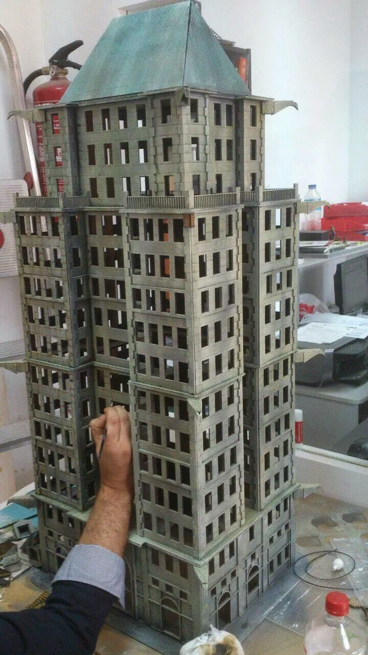 edificio batman miniature game-batman miniature game-rascacielo-build-knight modles-escenografia-