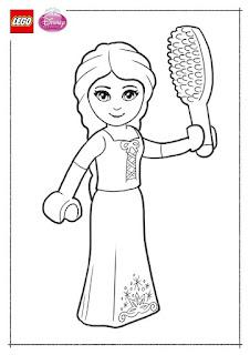 Ausmalbilder Lego Disney Prinzessinnen