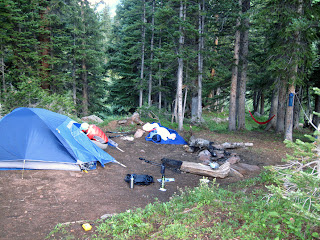 camping along the Four Pass Loop in the Elk Range of Colorado