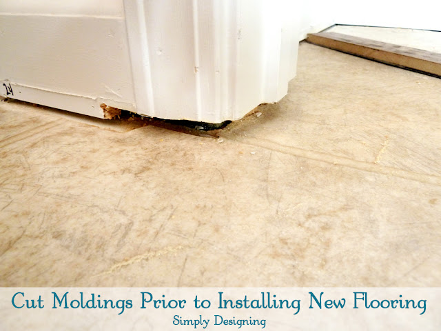 How to Trim Door Jams   #diy #flooring #homeimprovement   at Simply Designing