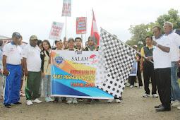 Ratusan Peserta  Fun Walk Meriahkan Harhubnas di Timika