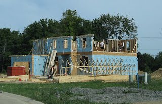 Photograph of new house under construction Pittsfield Township Michigan