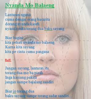 Lirik lagu kenangan Manado, Nyanda Mo Balaeng