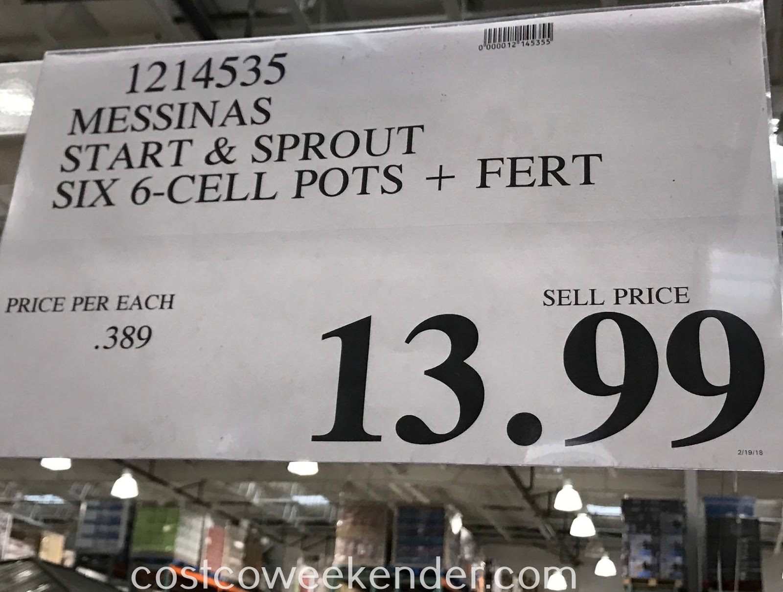 Deal for the Messinas Start and Sprout at Costco