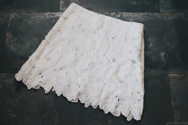 Newin Shein ホワイトフラワーレーススカート