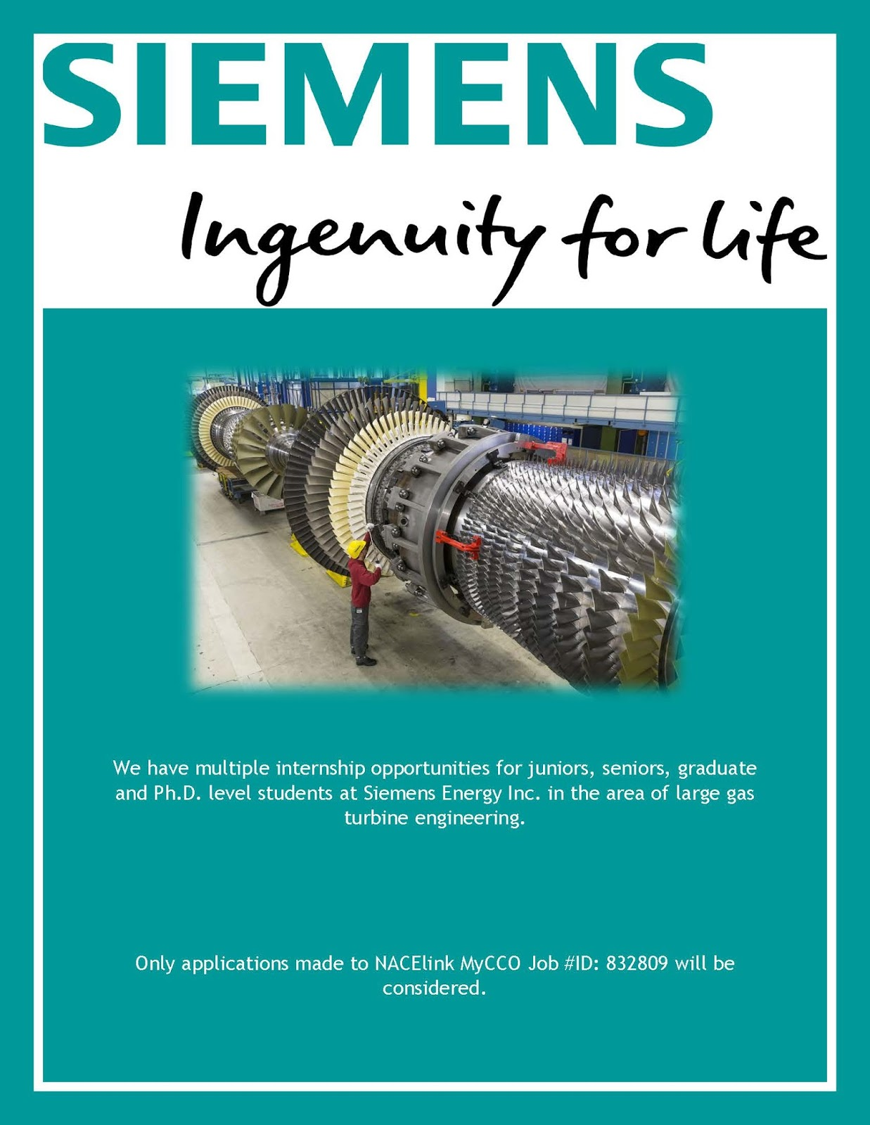 Siemens Gas Turbine Engineering Internship