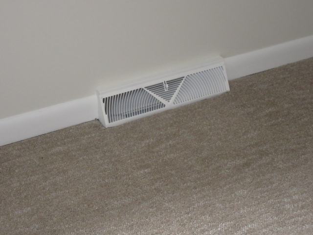 Newly painted heating vent.