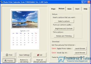 Th me 33 5 logiciels gratuits pour cr er facilement des - Creer un calendrier photo ...