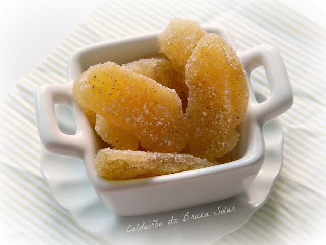 Fatias de maçã cristalizadas com canela