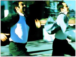 Nove Rainhas - Marcos (Ricardo Darín) e Juan (Gastón Pauls) correm em Puerto Madero