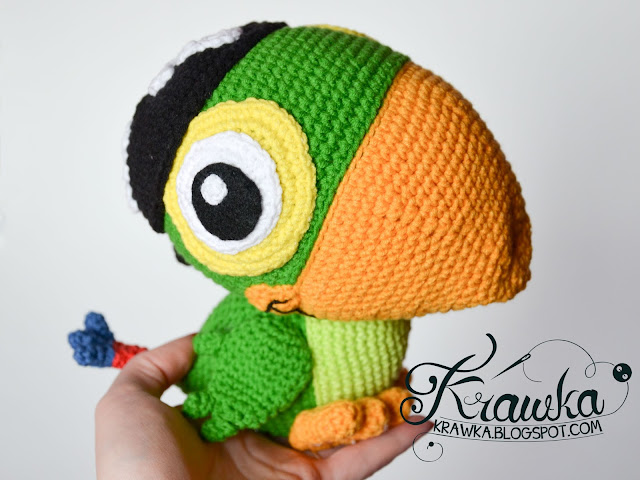 Krawka: Skully parrot from Jake and the Never Land Pirates, crochet pattern by Krawka