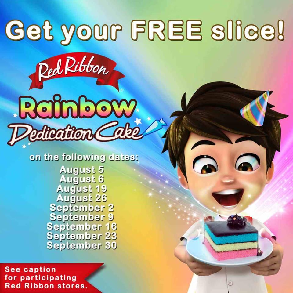 Manila Shopper Free Red Ribbon Dedication Cake Promo Aug