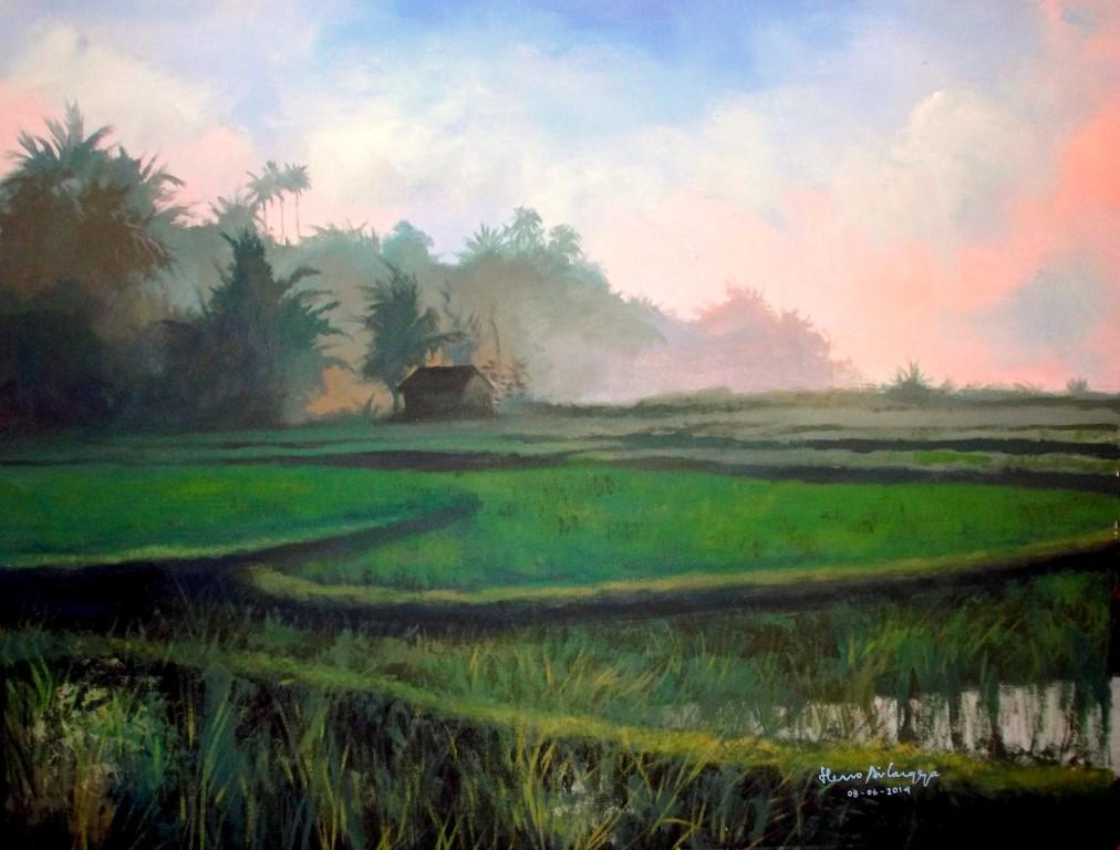 Dunia Lukisan JAVADESINDO Art Gallery LUKISAN PAGI