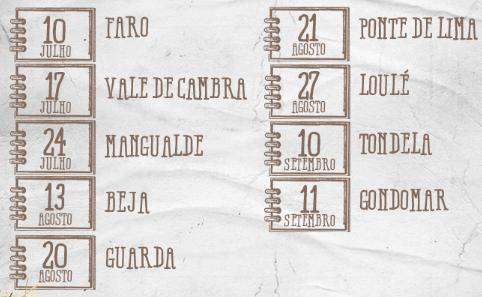 Itinerário das festas Continente em 2016