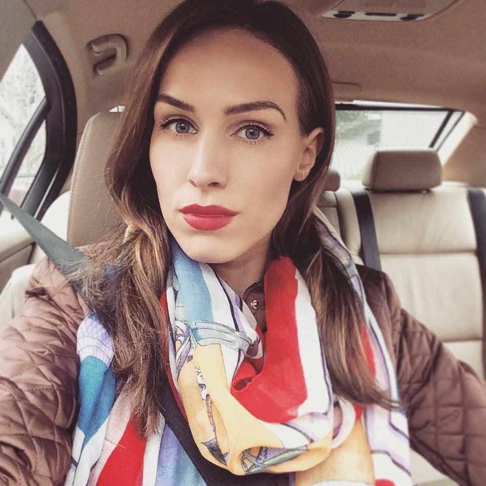kristjaana mere instagram car selfie