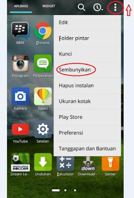 Cara mudah menyembunyikan aplikasi di hp android