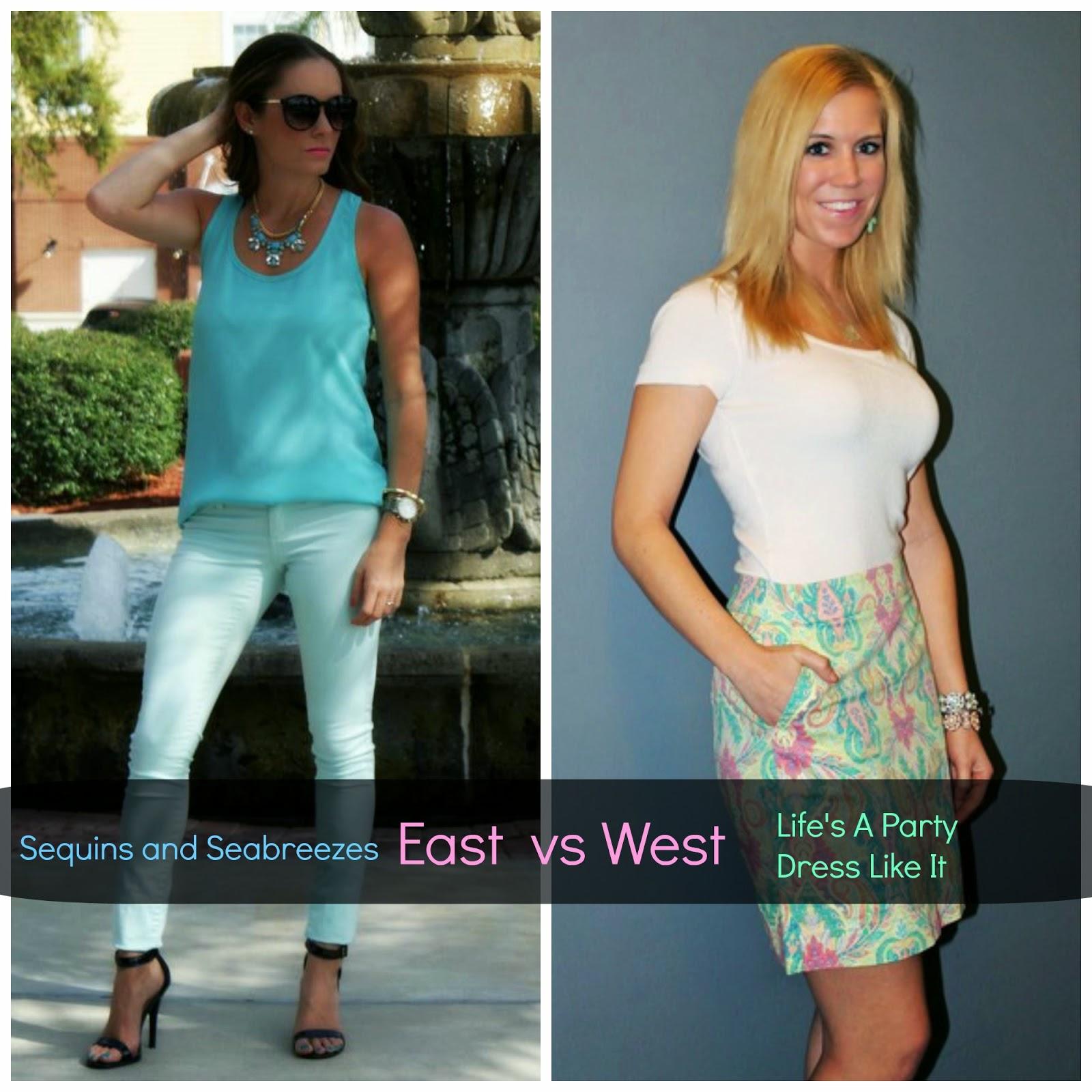 Life's A Party Dress Like It: East vs West Coast Style: Pastels
